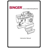Instruction Manual, Singer 7025