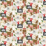 Oasis Fabrics, Noel Gingerbread Fabric