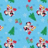 Mickey and Minnie Mouse Christmas Love Fabric