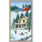 Wilmington Prints, Bringing Home Christmas Fabric Panel