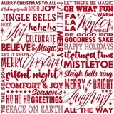 Holiday Wishes, Season Greetings Fabric - White
