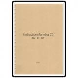 Instruction Manual, Elna 72