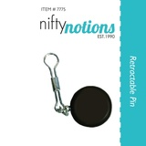 Retractable Pin For Scissors, Nifty Notions #7775
