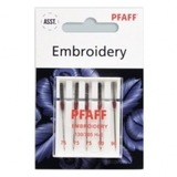 Pfaff Embroidery Needles, 5pk (130/705H) - Assorted Sizes