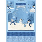 Welcome Winter Apron Fabric Panel