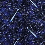Natural Treasures, Night Sky Fabric - Blue
