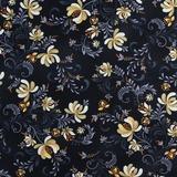 Henry Glass, Plain & Simple, Folk Flower Toss Fabric