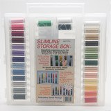 Suky, 40wt. Rayon Embroidery Thread Collection with Slimline Case