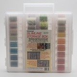 Sulky, Slimline Case with 12wt. Cotton Blendables Thread Collection #1 - 42 Spools