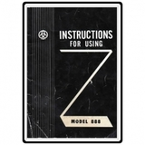 Instruction Manual, Brother 888