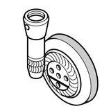 LG Roller Assembly, Pfaff #91-119942-93