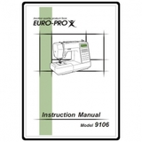 Instruction Manual, Euro Pro 9106