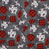 Western Greetings, Christmas Ornaments Fabric
