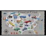 Coast to Coast, Road Trip Fabric Panel