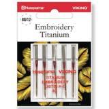 Viking Embroidery Titanium Needles, 5pk (130/705H) - Size 80/12
