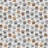 Good Doggie, Paw Print Fabric