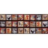 Chicken Scratch, Chicken Blocks Fabric Panel