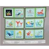 Sea Buddies, Soft Book Fabric Panel