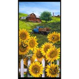 Country Paradise, Sunflower Fabric Panel