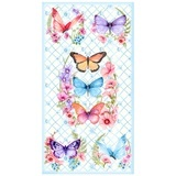 Papillon Parade, Butterfly Fabric Panel - Blue