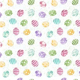Hoppy Easter, Mini Tossed Easter Eggs Fabric