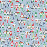 Nordic Forest Gnome Fabric - Slate