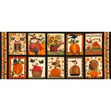 Give Thanks II Autumn Blocks Fabric Panel