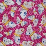 Gypsy Dreams Butterfly Fabric - Pink