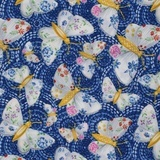 Blank Quilting, Gypsy Dreams Butterfly Fabric - Blue