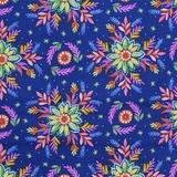 Blank Quilting, Gypsy Dreams, Blue Floral Fabric
