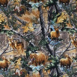 Realtree, Animals in the Forest Fabric, Dona Gelsinger