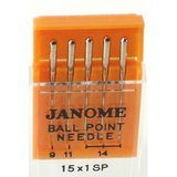 15x1SP Needles, Assorted Ball Point, 5pk Janome