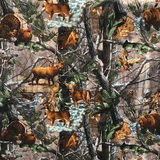 Realtree, Animals in the Forest Fabric
