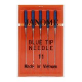 Blue Tip Needles, Size 11, 5pk, Janome #990311000