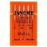 Leather Needles 15x1 (5pk), Janome #9906