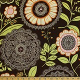 Amy Butler, Lotus, Lacework, Olive Fabric
