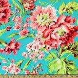 Amy Butler, Love, Bliss Bouquet, Teal Fabric