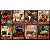 Down on the Farm, Animal Spice Farm Fabric Panel