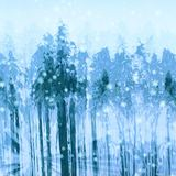 Robert Kaufman, Sugar Plum, Snowy Forest Fabric, Blue