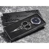 Klasse Black Embroidery Scissor and Tape Measure Gift Set