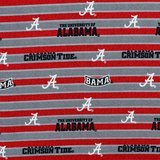 Alabama Crimson Tide, Striped Fabric, College Prints