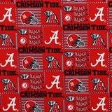 Alabama Crimson Tide, Logo Fabric, College Prints