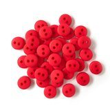 1/4in Tiny Red Buttons - Red