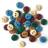 1/4in Tiny Round Buttons - Country