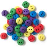 1/4in Tiny Round Buttons - Primary