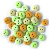 1/4in Tiny Round Buttons - Lemon Lime