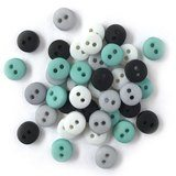 1/4in Tiny Round Buttons - Retro