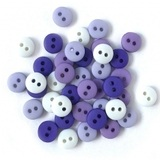 1/4in Tiny Round Buttons (19 Colors Available)