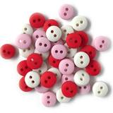 1/4in Tiny Round Buttons - Sweetheart