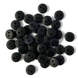 1/4in Tiny Round Buttons - Black